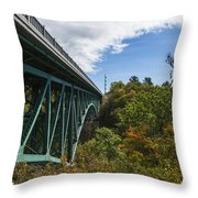 Cut River Bridge 1 C Throw Pillow