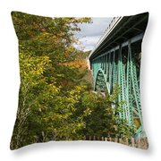 Cut River Bridge 2 Throw Pillow