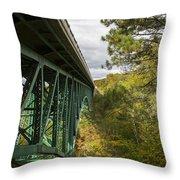 Cut River Bridge 3 A Throw Pillow