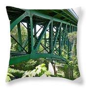Cut River Bridge Near Epoufette Michigan Throw Pillow