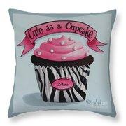 Cute As A Cupcake Throw Pillow