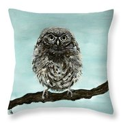 Cute Baby Owl Throw Pillow