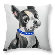 Boston Terrier Wall Art Throw Pillow