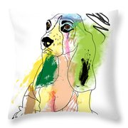 Cute Dog 2 Throw Pillow