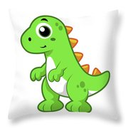 Cute Illustration Of Tyrannosaurus Rex Throw Pillow