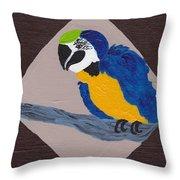 Cute Little Macaw  Throw Pillow
