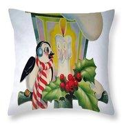 Cute Vintage Christmas Throw Pillow
