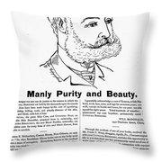 Cuticura Ad, 1887 Throw Pillow
