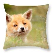 Cutie Face _red Fox Kit Throw Pillow
