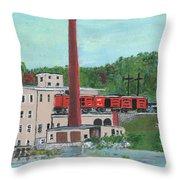 Cutler's Mill - Circa 1870 Throw Pillow