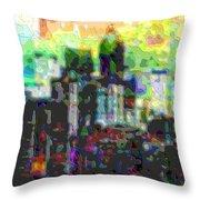 Cutout Art City Optimist Throw Pillow