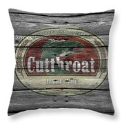 Cutthroat Pale Ale Throw Pillow