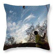 Cutting Feet At Sunset Throw Pillow