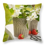 Cutting Orange Blossom Throw Pillow