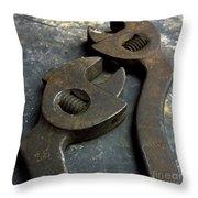 Cutting Pliers Throw Pillow by Bernard Jaubert