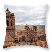 Cuzco Plaza Del Armas Throw Pillow