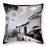 The Streets Of Cuzco Throw Pillow