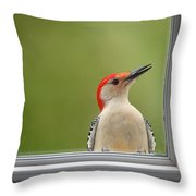 Cw My Crazy Woodpecker Throw Pillow