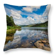 Cwellyn Lake Wales Throw Pillow