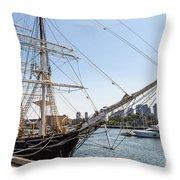 Cwm At The Boston Navy Yard Throw Pillow