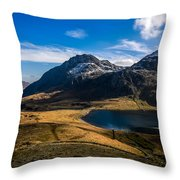 Cwym-idwal And Tryfan Throw Pillow