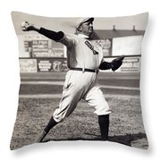 Cy Young - American League Pitching Superstar - 1908 Throw Pillow