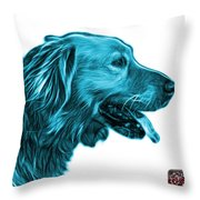 Cyan Golden Retriever - 4047 Fs Throw Pillow