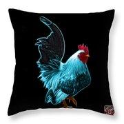 Cyan Rooster Pop Art - 4602 - Bb - James Ahn Throw Pillow