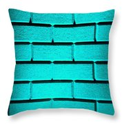 Cyan Wall Throw Pillow