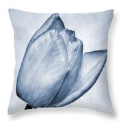 Cyanotype Tulip Throw Pillow
