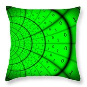 Cyberspace 4 Throw Pillow