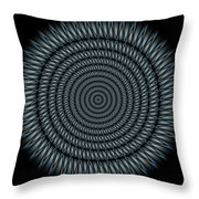 Cyborg Mandala Throw Pillow