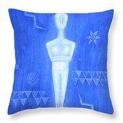 Cycladic Goddess - Middle Panel Throw Pillow
