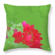 Cyclamen Dream Throw Pillow