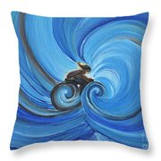 Cycle By Jrr Throw Pillow