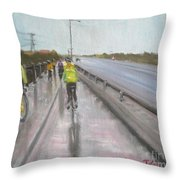 Cycle Club Throw Pillow