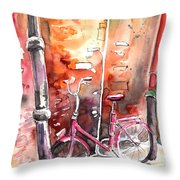 Cycling In Italy 02 Throw Pillow