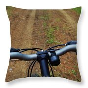 Cycling In The Country Throw Pillow