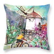 Cycling In The Mountains Of Gran Canaria Throw Pillow