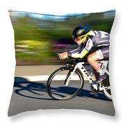 Cycling Prologue Throw Pillow