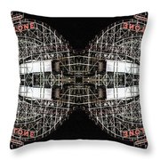Cyclone Abstract Throw Pillow