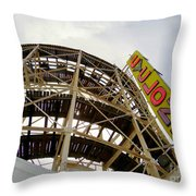 Cyclone Roller Coaster Throw Pillow