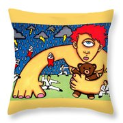 Cyclops I Want To Sleep Throw Pillow