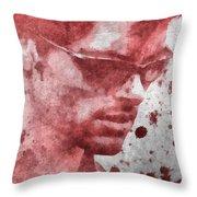 Cyclops X Men Paint Splatter Throw Pillow