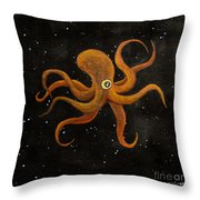 Cycloptopus Black Throw Pillow