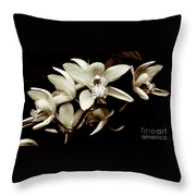 Cymbidium Orchids Throw Pillow