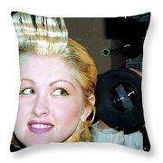 Cyndi Lauper 1988 Throw Pillow