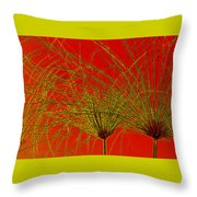 Cyperus Papyrus Abstract Throw Pillow