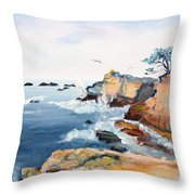Cypress And Seagulls Throw Pillow