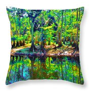 Cypress Coast Throw Pillow